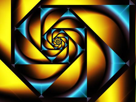 yellow and blue geometric pattern