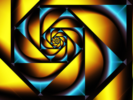 yellow and blue geometric pattern Reklamní fotografie