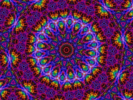 reloj de sol: caleidoscopio del fractal