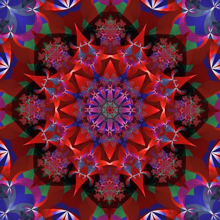 Red flower kaleidoscope