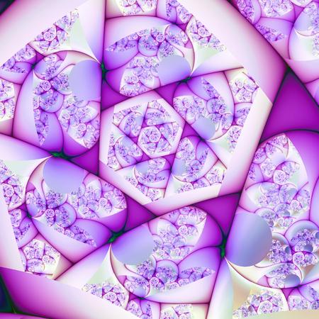 Lavender Fractal Spiral Stock Photo