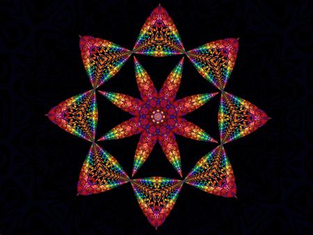 Rainbow Star Kaleidoscope Stock Photo