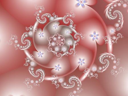 Pretty Pink Spiral
