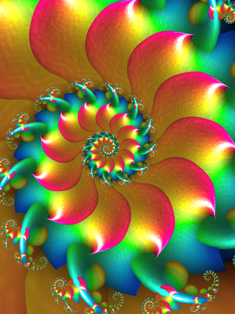 curl whirlpool: Coloured Spiral Fractal Design
