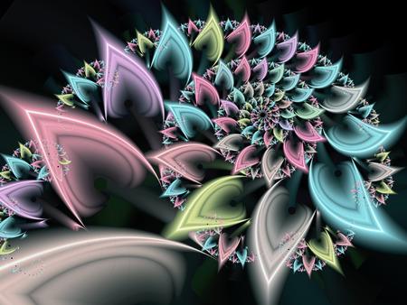 Pastel Petals Fractal Spiral