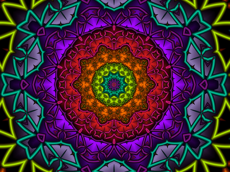 Colourful Kaleidoscope Design Stock Photo