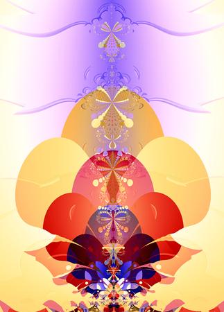 tail fan: Colorful Fan Pattern