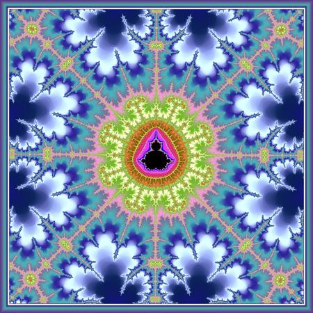 Floral Mandelbrot Fractal Stock Photo