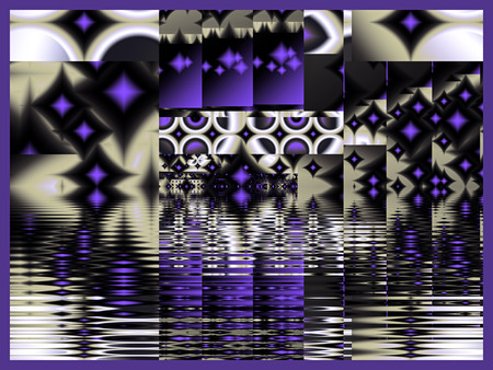 Purple Star Abstract Fractal
