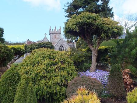 All Saints' Church, Godshill Model Village on the Isle of Wight, England