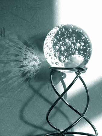 Glass Ball on a Stand