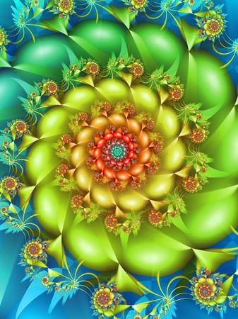 Colourful Fractal Spiral
