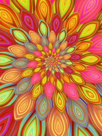 Colourful Petals Fractal
