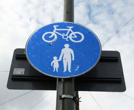 Pedestrian and Cycle Path Sign