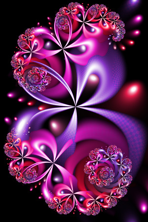 Pink and Purple Fractal Design Stock Photo