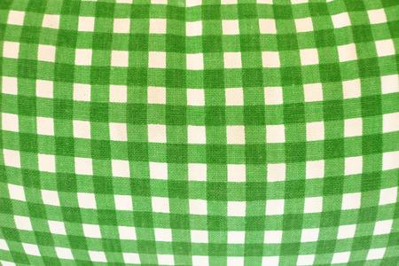 緑の市松模様のギンガム チェック 写真素材