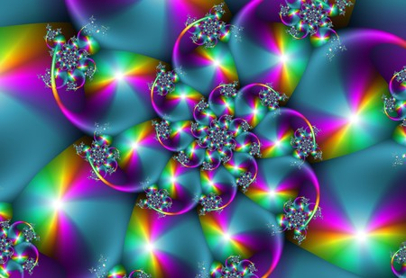 Colourful Spiral Fractal Stock Photo