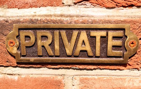 Metal Private sign Stock Photo