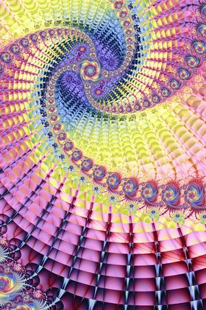 Colourful Fractal Vortex