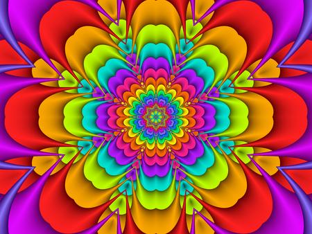 Bunte konzentrische Regenbogenblume