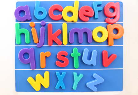 Colorful Magnetic Plastic Alphabet Letters in Alphabetical Order