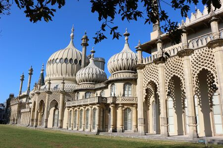 Brighton, East Sussex, England. 10th September 2019. The Royal Pavilion at Brighton was built for George, Prince of Wales as a seaside retreat. 免版税图像