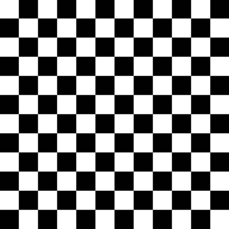 Chess Pattern. Black and White Squares Checkered Background