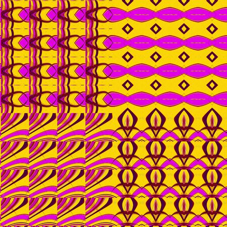 Abstract Repeating Fractal Tiles Pattern