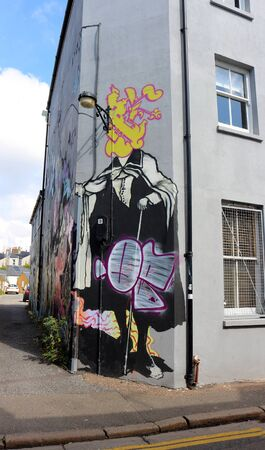10th September 2019. Brighton, East Sussex, England. Graffiti artwork in Brighton.