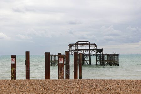The West Pier at Brighton, East Susssex, England