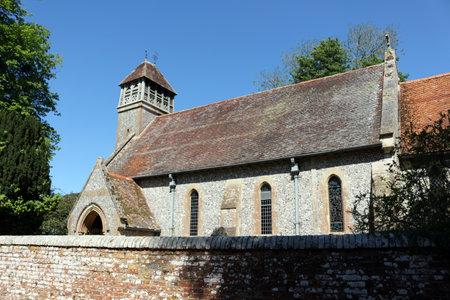 Hinton Ampner, Winchester, Hampshire, England. 21st May 2019. All Saints Church in Hinton Ampner. Фото со стока - 135344419