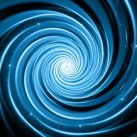 Abstract blue galaxy vortex fractal spiral