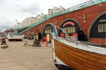 Brighton, East Sussex, England. 9th September 2019. The Kings Road Arches in Brighton. Редакционное