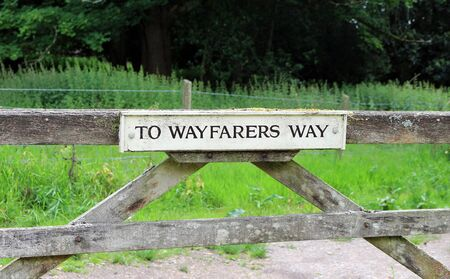 A sign to the Wayfarers Way