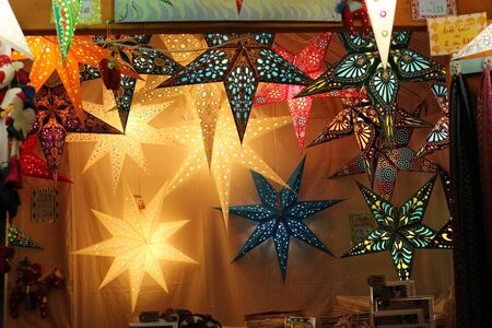 Hanging Star Shaped Christmas Paper Lantern Decorations