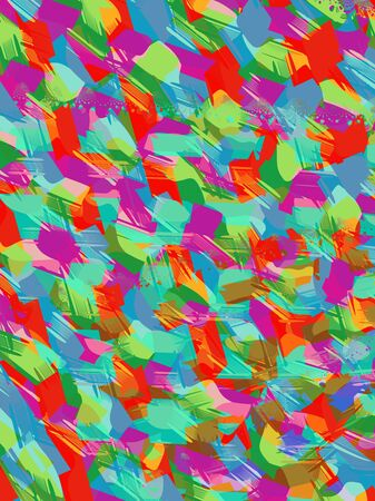 Bright Abstract Confetti Pattern with Bold Colors