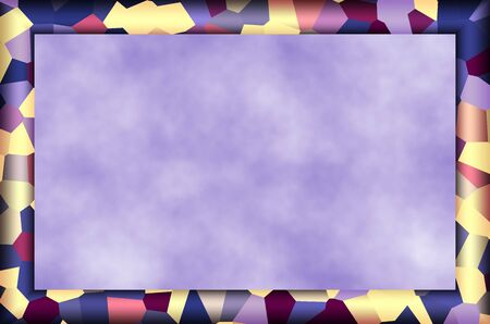 Purple Mosaic Camo Patterned Frame