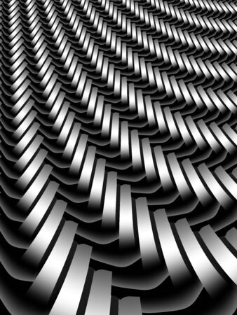 A silver grey abstract design with curving braided lines Banco de Imagens - 139185612