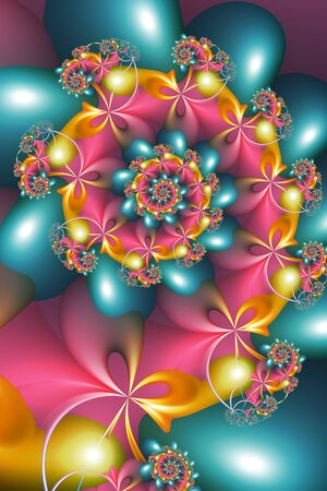Abstract Art Psychedelic Spiral in Vivid Colors