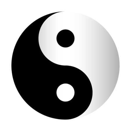 Symbole taoïste Yin Yang noir et blanc Banque d'images