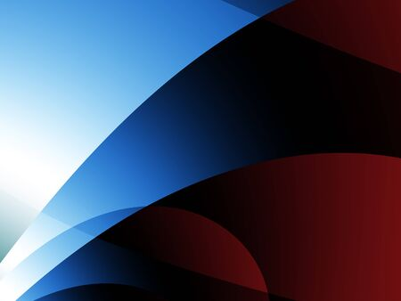 Red and Blue Minimal Abstract Composition