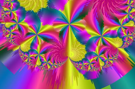 Brightly colored abstract background with flowers Standard-Bild