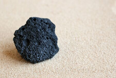 Black volcanic pumice stone from Mount Teide, Tenerife