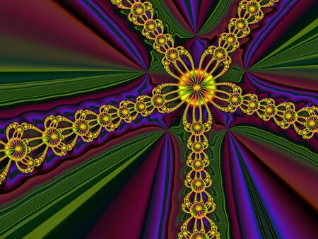 colorful decorative symmetrical abstract background