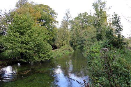 The River Test running through Mottisfont in Hampshire
