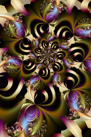 Golden bows abstract fractal design Standard-Bild