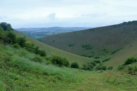 A view across the valley below Butser Hill in th South Downs National Park