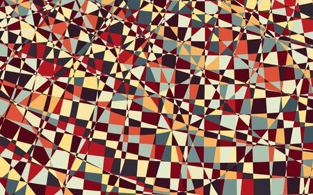geometric abstract pattern with mosaic shapes