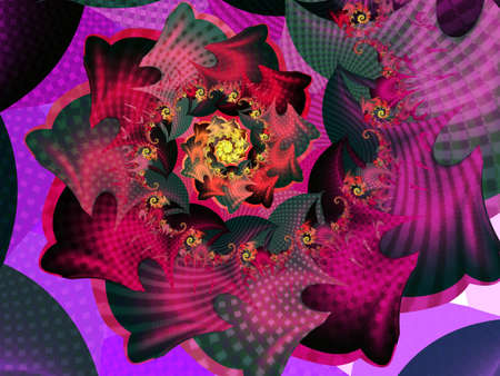 pink abstract floral fractal background Standard-Bild