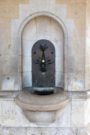 London, England. 5th December 2013. A drinking fountain in Kensington Gardens, London.